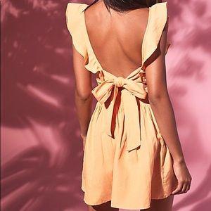 FREE PEOPLE Collette Ruffle Trim Dress